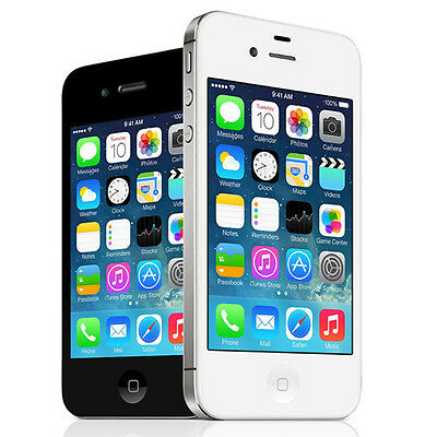 Apple iPhone 4s - 8 16 32 or 64GB - Black or White (AT&T) POOR CONDITION