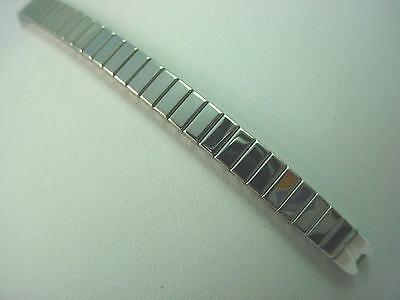 Stainless Steel Ladies Vintage Watch Band Straight Expansion Speidel C Ring NOS