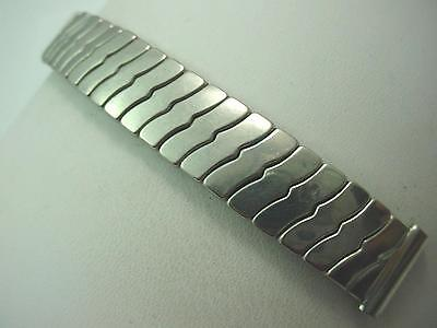 "Kestenmade Mens Vintage Watch Band Overhand Expansion 16mm 5/8"" Stainless Short"