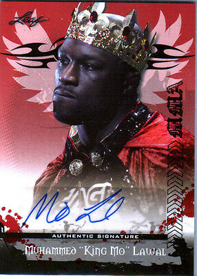 "MMA UFC Muhammed ""King Mo"" Lawal AV-ML1 2010 Leaf Authentic Autograph Card TNA"