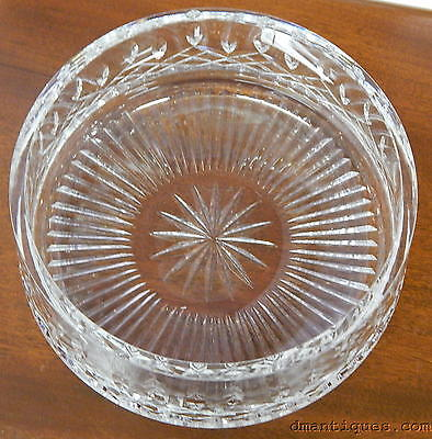 "Vintage Signed Waterford Lismore 8"" Fruit Serving Bowl Heavy Irish Cut Crystal"