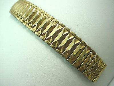 "Duchess Mens Watch Band Vintage 16mm 5/8"" Gold Filled Overhand Expansion"