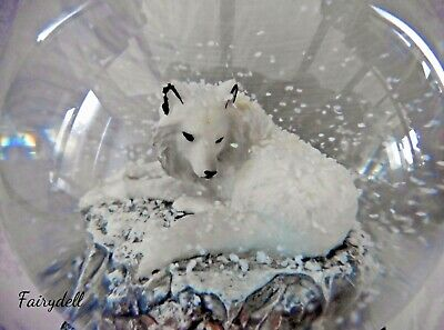 Winter Wolf Pup ~ Snowy White Young Wolf Figurine ~ New!