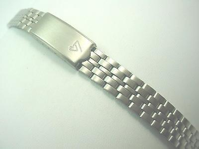 Lorus Stainless Steel Deployment Clasp Ladies vintage Watch Band 12mm Curved Lug