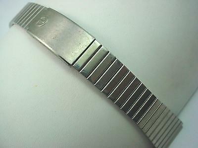 "Mens Vintage Watch Band Deployment Clasp 19mm 3/4"" Stainless Steel Pre-Owned"