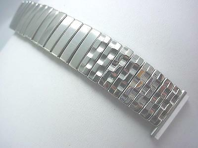 """19mm 3/4"""" Mens Vintage Watch Band Mark 7 Stainless Steel Scissor Expansion NOS"""