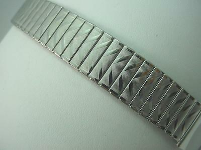 """Newflex Mens Vintage Straight Expansion Stainless Steel 19mm 3/4"""" Watch Band NOS"""