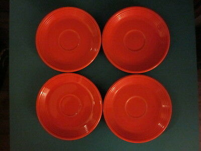 Lot of FOUR 4 Vintage Homer Laughlin FIESTA WARE HLC USA Red Saucers