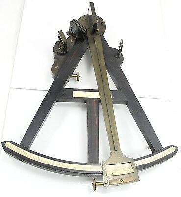Antique E & G W Blunt Sextant Compass Nautical Marine Wooden Box England Ca 1866