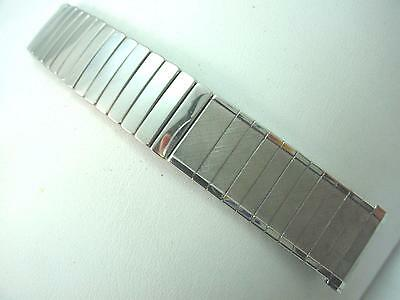 """Mens Baldwin Vintage Watch Band Stainless Steel 19mm 3/4"""" Center Expansion NOS"""