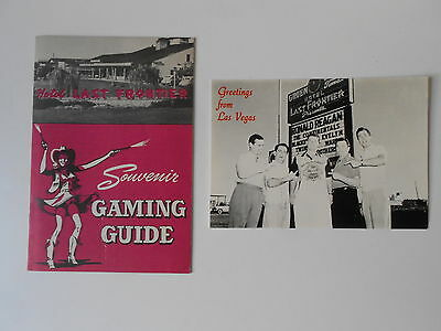 VEGAS LAST FRONTIER GAMING GUIDE PHOTO POSTCARD NEVADA VINTAGE EARLY OLD HOTEL