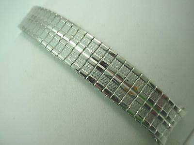 "19mm 3/4"" Mens Vintage Speidel Watch Band Straight Expansion Stainless Steel NOS"