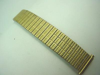 "Gold Tone Vintage Watch Band Full Expansion Mens Speidel 16mm-19mm 5/8""-3/4"""