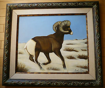 Hazel E. Olson LISTED California CA Big Horn Sheep, Desert Art Center Artist