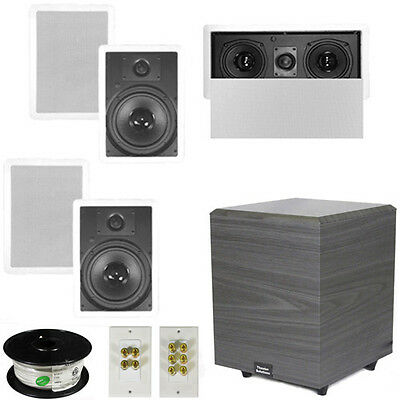 "5.1 Home Theater 8"" In Wall Speakers, Center, 8"" Powered Sub & More TS80WL51SET2"