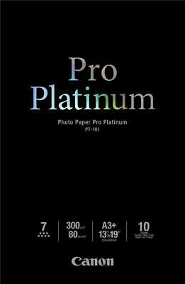 Canon PT-101 (A3+) 300gsm Pro Platinum Photo Paper (Pack of 10 Sheets)