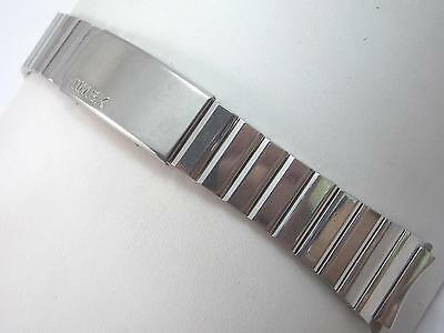 "19mm 3/4"" Times Mens Vintage Watch Band Stainless Steel Deployment Clasp NOS"
