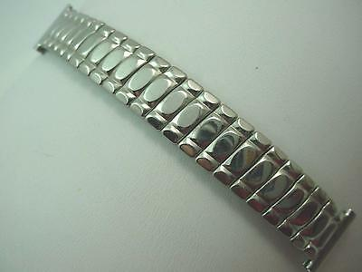 "Bellavance Mens Vintage Watch Band Stainless 16mm 5/8"" Overhand Expansion Short"