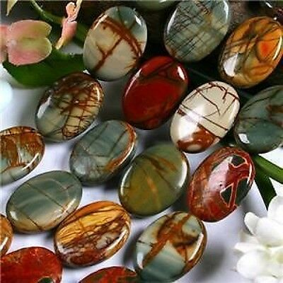 """10x14mm Multi-color Picasso Jasper Oval Loose Beads 15"""""""