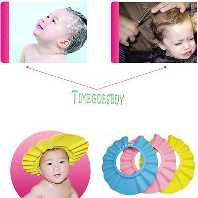 Soft Safe Shower Bathing Protector Shampoo Cap Hat Haircut for Baby Kid Children