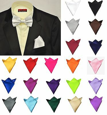 Fashion Men Satin Silk Wedding Party Hanky Pocket Square Handkerchief