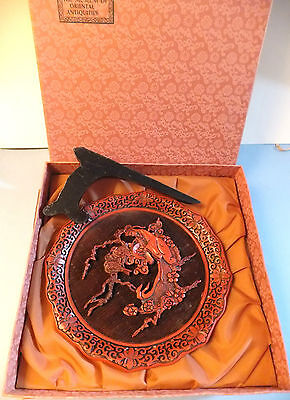 Collector Plate Five Perceptions Weo Cho Cinnabar Plate TOUCH Chinese Asian