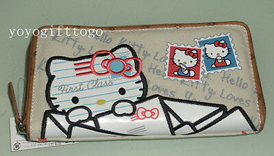Hello Kitty Zip Around Long Wallet Purse ~ New Arrival