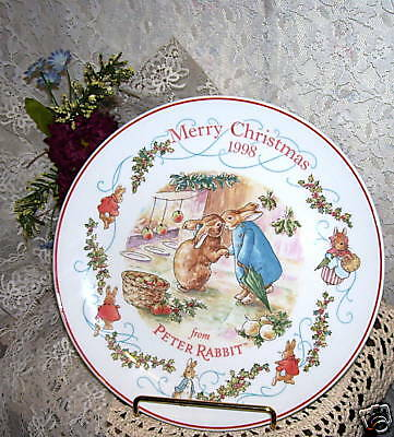 PLATE PETER RABBIT WEDGWOOD ENGLAND Merry Christmas