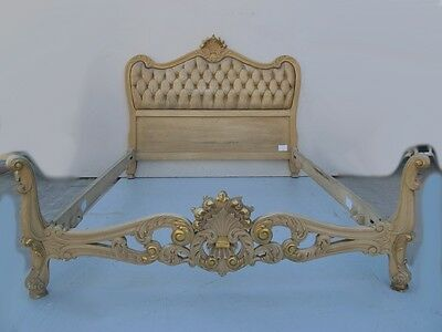 Amazing French Louis XV patinated walnut full bed # 09008