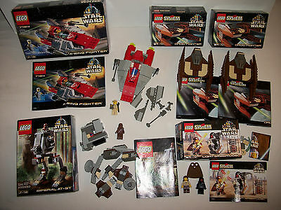 Lego Star Wars Vintage Lot of 5 Sets w Boxes Minifigs Books AS SHOWN