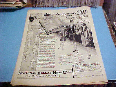 1928 ORIGINIAL AD NATIONAL BELLAS HESS CO. INC MAIL COUPON FOR FREE BOOK/CATALOG