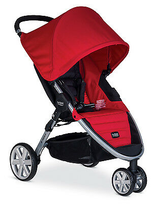 Britax 2015 B-Agile 3 Stroller in Red Brand New! Free Ground Shipping!