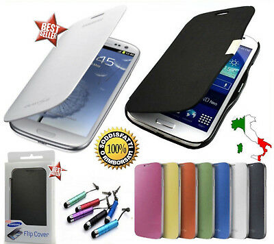 CUSTODIA FLIP COVER SLIM x SAMSUNG GALAXY GRAND NEO PLUS I9060I PELLICOLA VETRO