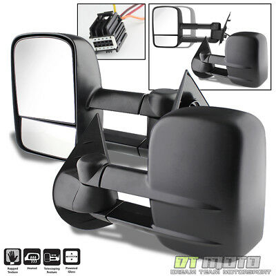 Left+Right 2007-2014 Silverado Sierra Telescoping Tow Power Heated Side Mirrors