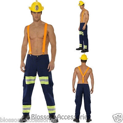 CL352 Mens Fever Male Firefighter Fireman Bucks Party Fancy Dress Up Costume