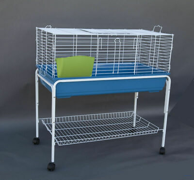 Flyline Bunny Hotel 100 Rabbit Guinea Pig Cage Hutch Habitat with Stand