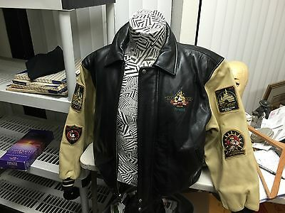 Disneyland 50th Anniversary Commemorative men's leather jacket  S