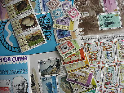 TRISTAN DA CUNHA 20 different MNH stamps, souvenir sheets,check m!PLZ read descr