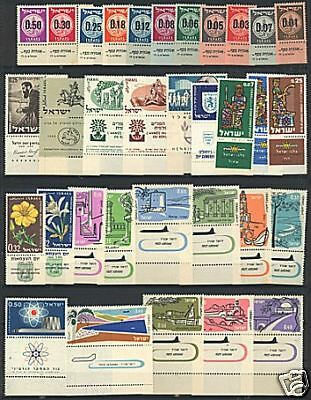 Israel 1960 - 1964 Sets with Tabs VF MNH includes s/sheets & air mail sets
