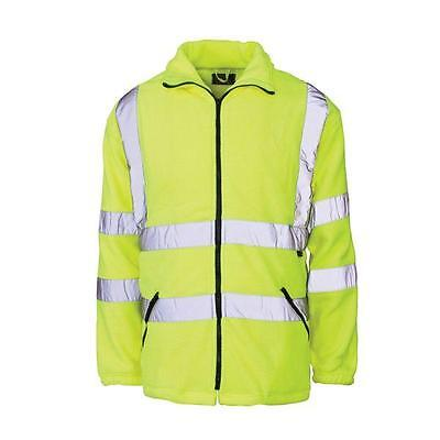 Hi Visibility Fleece Jacket Coat Yellow or Orange Class 3 Hi Viz Fleece