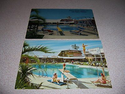 1940s & 50s POOL at WILBER CLARK'S DESERT INN LAS VEGAS NV. VTG POSTCARD LOT