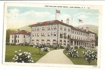 1932 FORT WILLIAM HENRY HOTEL Lake George NY Postcard
