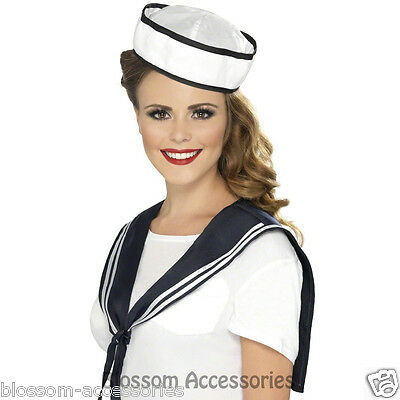 A569 Womens Captain Sailor Instant Kit with Scarf and Hat Fancy Dress Costume