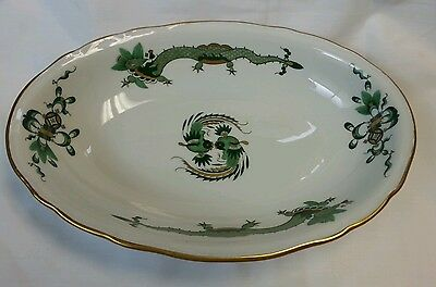 MEISSEN RICH COURT GREEN DRAGON OVAL VEGETABLE DISH EXCELLENT FIRST QUALITY