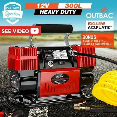 OUTBAC Car Air Compressor 12v 4x4 Tyre Deflator 4wd Inflator Portable 300L/min