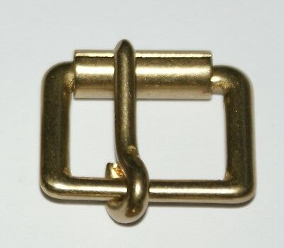 "SOLID CAST BRASS 3/4"" (19 mm) SINGLE ROLLER BUCKLE"