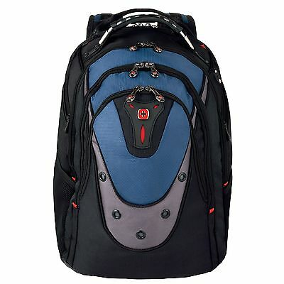 Wenger SwissGear Ibex Backpack (Black/Blue) for 17 inch Laptop