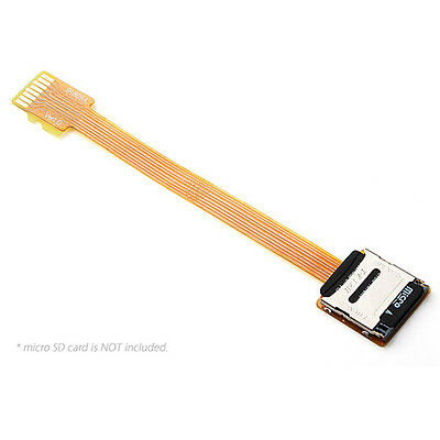 Micro SD TF Memory Card Kit Male to Female Extension Soft Flat FPC Cable 10cm