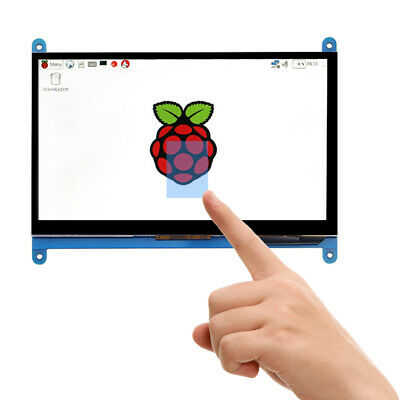 """New 7"""" Capacitive Touch Screen LCD Display IPS 1024x600 HDMI For Raspberry Pi"""
