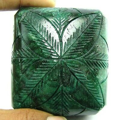 1369Cts Rare Huge Collectible Hand Carved Quality Natural Green Emerald Gemstone